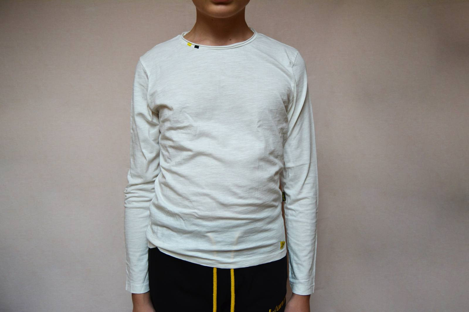 T shirt manica lunga uomo bianca, logo